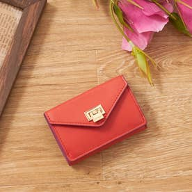 薄型三つ折り財布 (ピンク)