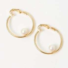 ★Sea`ds mara/Pearl hoop イヤリング (ゴールド)