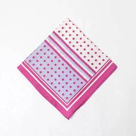 ★Casselini/ドットラインスカーフ (ピンク)