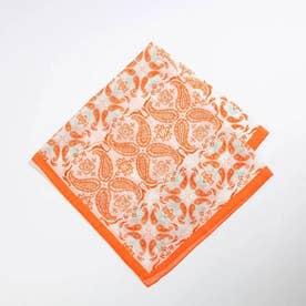 ★LELLE/ペイズリー柄スカーフ (オレンジ)