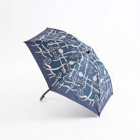 ★manipuri/【晴雨兼用】折りたたみ傘チェーン (ネイビー)