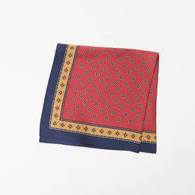 ●Casselini/パターンスカーフ (レッド)