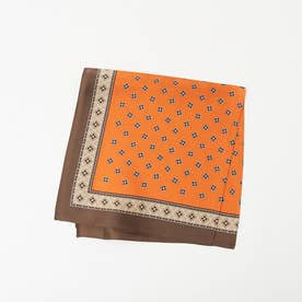 ●Casselini/パターンスカーフ (オレンジ)