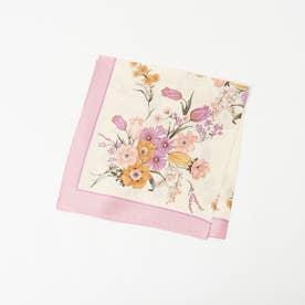 ●Casselini/フラワースカーフ (ピンク)