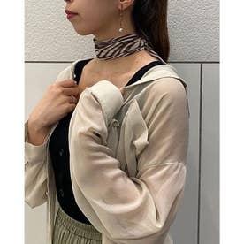 ゼブラ柄スカーフ (オフホワイト)