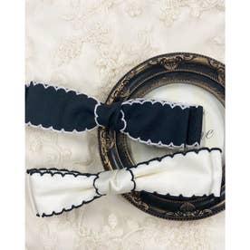刺繍リボン (オフホワイト)