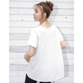 バックプリーツTシャツ (オフホワイト)