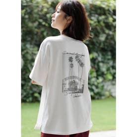BACKフォトTシャツ (オフホワイト)