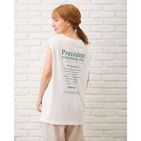 バックロゴフレンチS/Tシャツ (オフホワイト/グリーン)