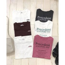 バックロゴフレンチS/Tシャツ (オフホワイト/アカ)