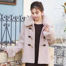 ビット付ファー衿ショートCT (ピンク)