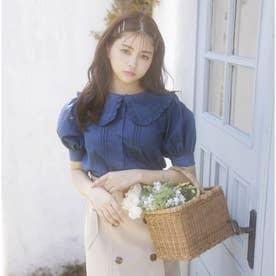 BIGフリル衿/5分袖BL (デニム)