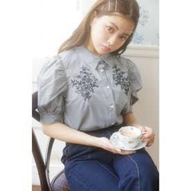 ボリュームSL刺繍/BL (クロ/ギンガム)