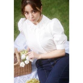 衿レースパワショル5分袖/BL (オフホワイト)