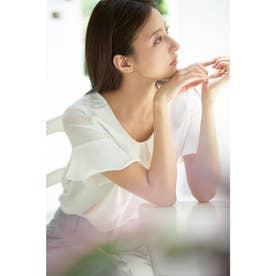 袖シアーピン付トロミ/BL (オフホワイト)