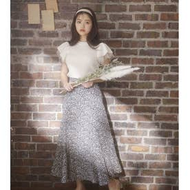 花柄マーメイドスカート (クロ)