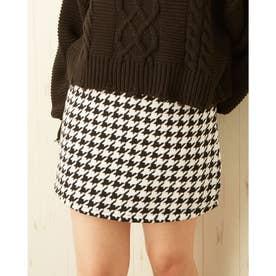 チドリ柄台形/スカート (オフホワイト/クロA)