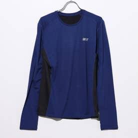 ロングTシャツ (02/ネイビー×ブラック)