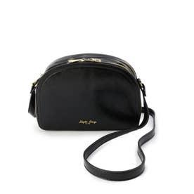 ハーフムーン型お財布ショルダーバッグ (ブラック)