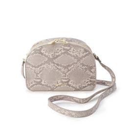 ハーフムーン型お財布ショルダーバッグ (ライトグレー)
