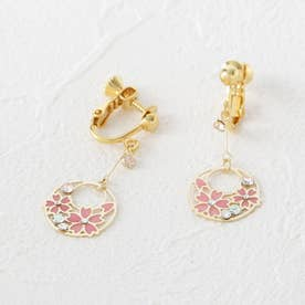 桜ツキノワイヤリング (ゴールド)