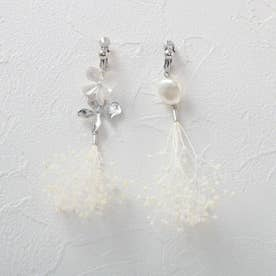 カスミアシメ花セットイヤリング (シルバー)