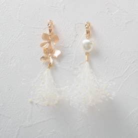 カスミアシメ花セットイヤリング (ゴールド)