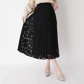 プリーツミモレスカート (ブラック)