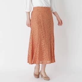 フラワーレースマーメイドスカート (オレンジ)