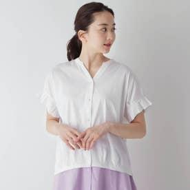 オープンフロントタック袖プルオーバー (オフホワイト)