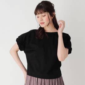 シルケット袖くしゅプルオーバー (ブラック)