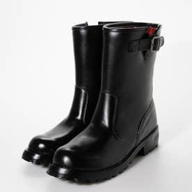 成形一体型 完全防水 ジョッキーレインブーツ (ブラック)