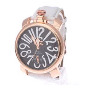 【専用ケース付き】トップリューズ式ビッグフェイス腕時計 マットタイプ47mm (H(ブラック/ホワイト))