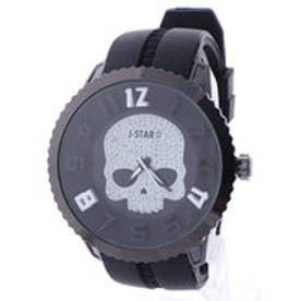 【専用ケース付き】3D スカル ドクロデザイン ビッグフェイス腕時計 50mm (B(ブラック/ホワイト))