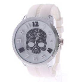 【専用ケース付き】3D スカル ドクロデザイン ビッグフェイス腕時計 50mm (E(ホワイト/ブラック))