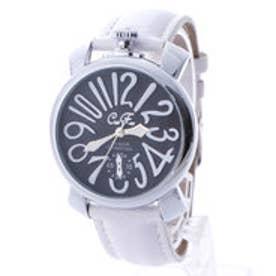 【専用ケース付き】トップリューズ式ビッグフェイス ドレス腕時計 プレーンタイプ40mm (D(ホワイト/ブラック))