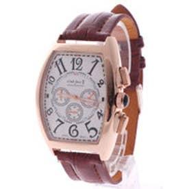 【専用ケース付き】クロノグラフ ビッグフェイス腕時計 38mm (A(ゴールド&ホワイト))