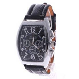 【専用ケース付き】クロノグラフ ビッグフェイス腕時計 38mm (B(シルバー&ブラック))