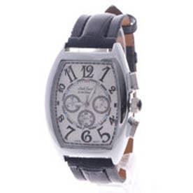 【専用ケース付き】クロノグラフ ビッグフェイス腕時計 38mm (D(シルバー&ホワイト))