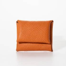 シュリンクレザー カードケース ウォレット ミニケース (オレンジ)