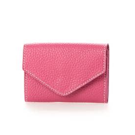 日本製 シュリンクレザー カードケース ウォレット (ピンク)