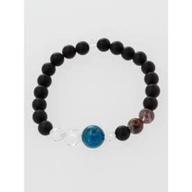 【岩座】アパタイト×苔水晶×縞瑪瑙ブレスレット / 腕輪数珠 ストーン