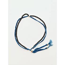 【岩座】本藍染め 綿麻アンクレット 足飾り 藍 ブラック
