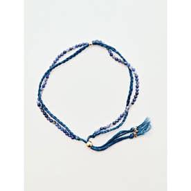 【岩座】本藍染め 綿麻アンクレット 足飾り 藍 ブルー