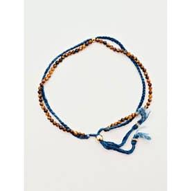 【岩座】本藍染め 綿麻アンクレット 足飾り 藍 ブラウン