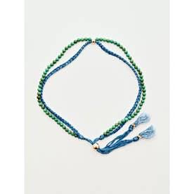 【岩座】本藍染め 綿麻アンクレット 足飾り 藍 ターコイズブルー