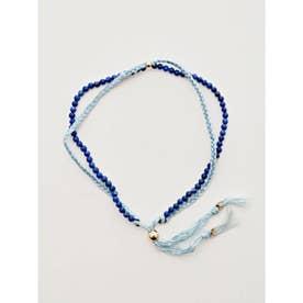 【岩座】本藍染め 綿麻アンクレット 足飾り 浅葱 ダークブルー
