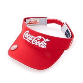 ゴルフ サンバイザー 【Coca-Cola】バイザー 2621187541 (レッド)