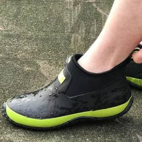 スポーティ レインブーツ  防滑 耐候性 耐油 耐屈曲 アウトソール ネオプレン クロロプレン JW218 (BLACK/GREEN)