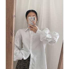 ギャザースリーブシャツ (ホワイト)